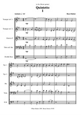 Quintetto for two trumpets, horn, tuba and double bass – Movement I