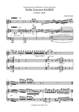Violin Concerto Kairos for violin and orchestra. II Panta rhei. Edition for violin and piano