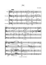 Ave quartet for violin & three violoncellos